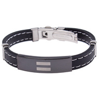 Pride ID Plate Rubber Bracelet - Equality : PSB03 image