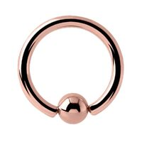 PVD Rose Gold Ball Closure Ring image