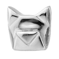 Steel Internally Threaded Geometric Dog Head Attachment : 14g (M1.2) image