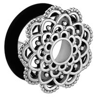 Steel Ornate Flower Single Flared Eyelet image