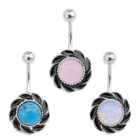 Flower Set Semi Precious Navel image