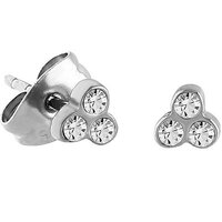 Surgical Steel Triple Gem Ear Studs : Pair image