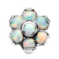 Titanium Internally Threaded Opal Flower Attachment with Opal Petals image