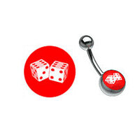 Titanium Picturebell Dice White/Red image
