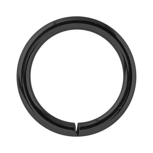Black Steel Continuous Rings : 0.8mm (20ga) x 6mm