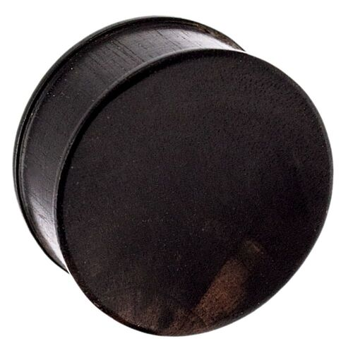 Areng Concave Wood Plug : 4mm
