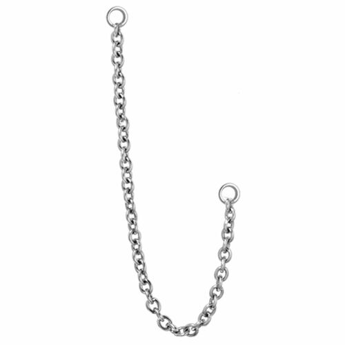 Steel Basic Chain Barbell Charm