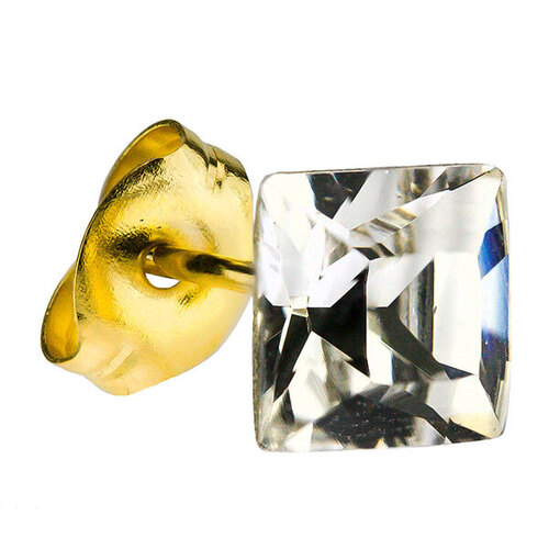 Gold Plate Crystal Zircon : Square
