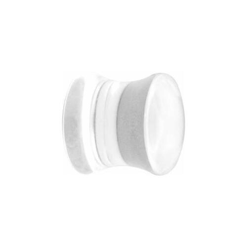 Clear Flared Plugs : 8mm x Clear
