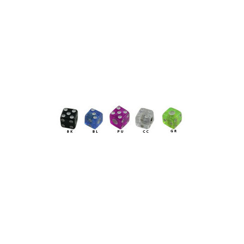 UV Threaded Micro Dice : Black