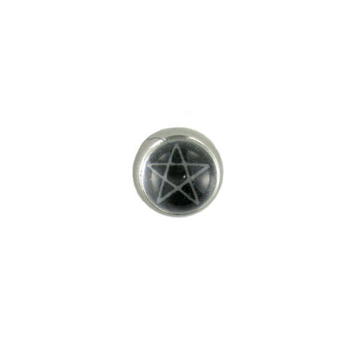 Screw On Picture Ball Pentagram