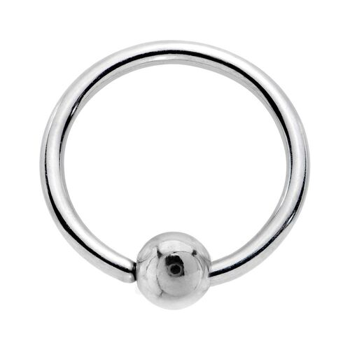 Annealed Surgical Stainless Steel Fixed Ball Closure Rings : 0.8mm (20ga) x 7mm