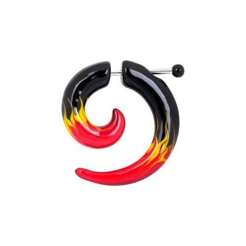 Acrylic Mirage Spiral - Flames : 1.2mm (16ga)