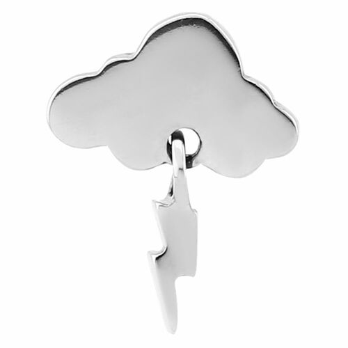 Steel Storm Cloud Industrial Barbell Charm