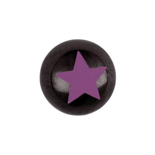 Titanium Blackline® Star Threaded Balls : 1.6mm (14ga) x 6mm x Pink
