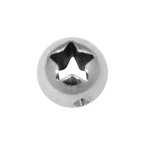 Steel Basicline® Laser Cutout Star Clip-in Ball : 6mm