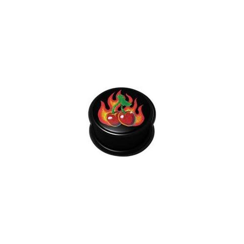 Mega Ikon Plug - Flaming Cherries : 22mm