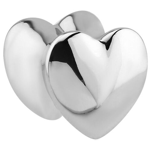 Steel Solid Double Flared Heart Plug : 8mm